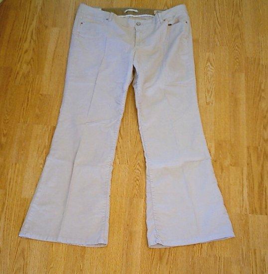 GAP JEANS LOW RISE FLARE CORDUROY PANTS-18-40 X 33-NWT