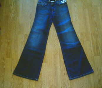 GAP LOW RISE STRETCH FLARE JEANS-SIZE 1-27 X 33 1/2-NWT