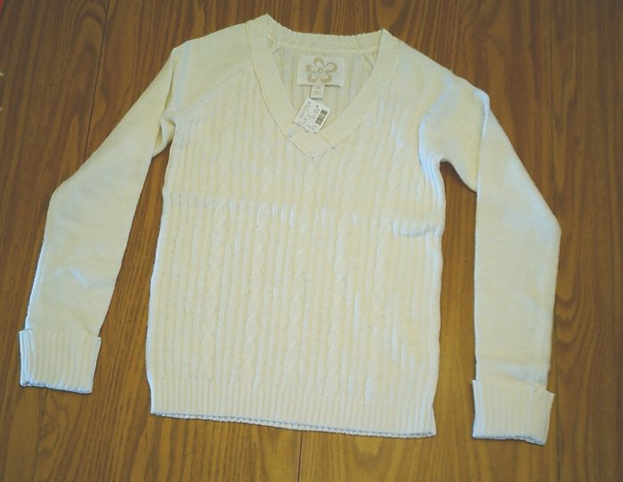 LIMITED TOO JEANS GIRLS OFF WHITE SWEATER-SIZE 14-NWT
