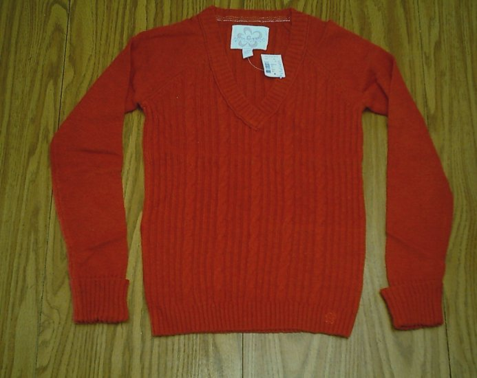 LIMITED TOO JEANS GIRLS RED SWEATER-SIZE 12-NWT