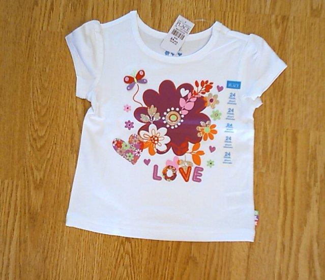CHILDS PLACE LOVE FLOWER HEART TOP SHIRT-24 MONTHS-NWT