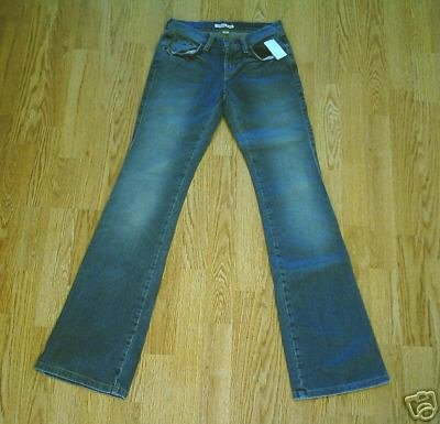 TOMMY STRETCH BOOTCUT JEANS-SIZE 0 LONG-26 X 35-NWT