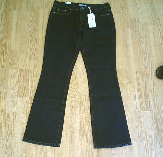 LEVIS 515 BOOTCUT STRETCH JEANS-8 LONG-33 X 34-NWT