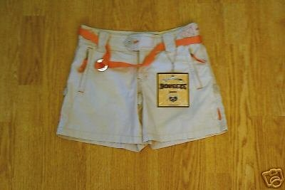 SQUEEZE WOMENS LOW RISE KHAKI SHORTS-SIZE 0-27-NWT