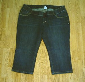 OLD NAVY JEANS LOW RISE MATERNITY CAPRI-XL-16/18-NWT