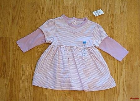 CHILDRENS PLACE GIRLS LONG SLEEVE DRESS-3-6 MONTHS-NWT