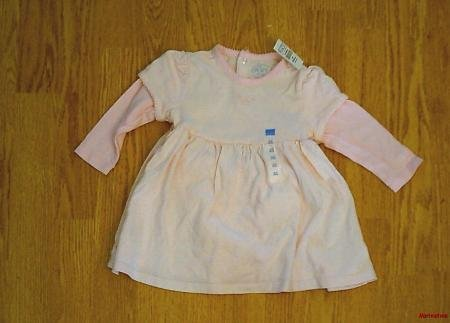 CHILDRENS PLACE GIRLS PINK LONG DRESS-6-9 MONTHS-NWT