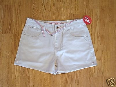 ARIZONA JEANS GIRLS KHAKI SHORTS-SIZE 10 1/2 PLUS-NWT