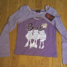 BRATZ GIRLS PURPLE LONG SLEEVE TOP SHIRT-SIZE 10/12-NWT