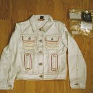 GAP JEANS GIRL WHITE JACKET COAT-SIZE 8 MEDIUM-NWT
