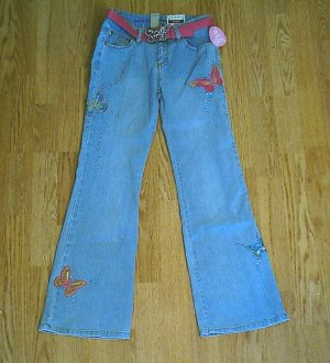 ARIZONA GIRLS BUTTEFLY FLARE JEANS-12 SLIM-25/27.5-NW�T