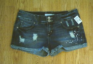MAURICES JEANS DENIM SHORTS-SIZE 7/8-33 X 2 1/2-NWT