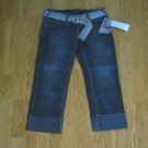 ANGELS JEANS LOW RISE CUFFED CAPRIS-SIZE 5-29 X 23-NWT