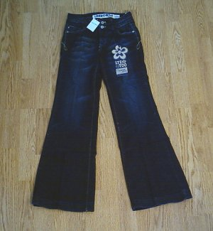 LIMITED TOO GIRL SUPER LOW FLARE JEANS-SIZE 12 SLIM-NWT
