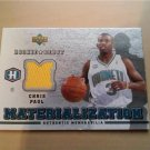 06-07 Upper Deck Rookie Debut Chris Paul Materialization game worn jersey card