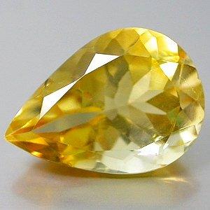 Natural 4.38 Ct. carat Citrine Pear cut gem stone 14x10mm