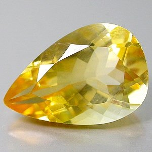 5.10 ct Natural Pear cut Citrine gem stone 15x10mm clean