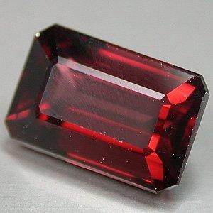Natural 9x6mm Octagon cut Rhodolite Garnet gem 2.59 Ct