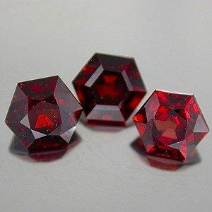 Natural 5mm Hexagon cut Mozambique Garnet gems stones $10.00 each