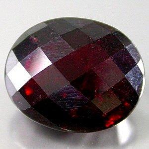 Huge Natural 13 x 10.7mm Checkerboard Oval cut Rhodolite Garnet gem 9.41 Ct