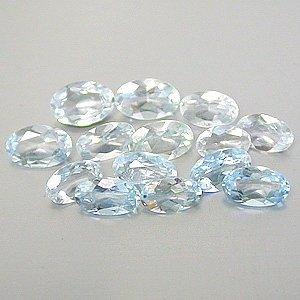 Natural 4x3mm Oval cut Aquamarine gems eye clean light blue $2.00 each