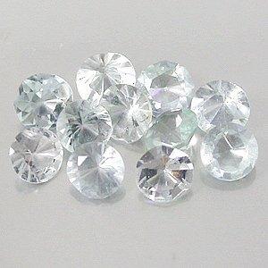 Natural 3mm round cut Aquamarine gems eye clean light blue $1.00 each