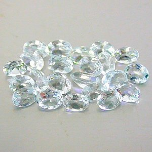 Natural 3.5x2.5mm Oval cut Aquamarine gems eye clean light blue $2.00 each