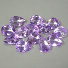 Natural Vivid Purple Amethyst 8x5mm pear cut gems Eye Clean $2.50 each
