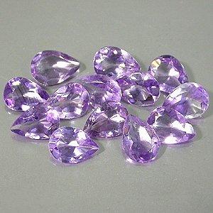 Natural Vivid Purple Amethyst 8x5mm pear cut gems Eye Clean $2.50 each
