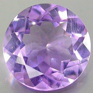 Large Natural Purple Amethyst 12mm round cut gem 5.00  carats