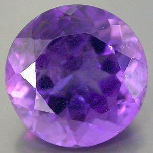 Large Natural Dark Purple Amethyst 12mm round cut gem 6.11 carats