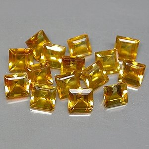 Natural 4mm Bright Orange Square cut Citrine gems clean $5.00 each