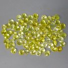 Natural 3mm Round cut Yellow Beryl gems stone Just $1.00 each