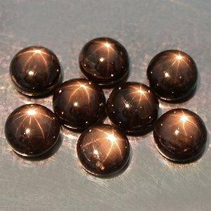 7mm Natural Star Sapphire cabochon gem stones Black Just $10.00 each