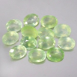 7 x 5.5mm Natural Prehnite oval cut gem stones $5.00 each