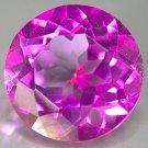 6 Ct. Flamingo Mystic Topaz 11mm round cut gem eye clean