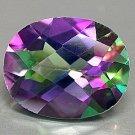 28 Carat Green Mystic Fire Topaz Oval cut gem 25x18mm