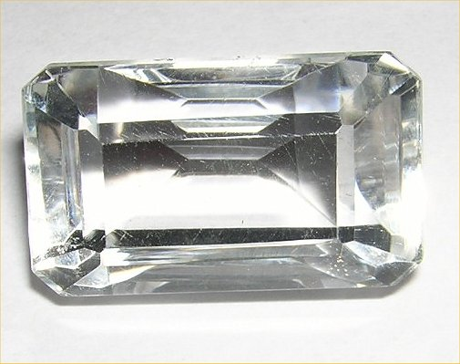 Beautful very large 6 carat 11x9mm Diamond White Topaz  Octagon