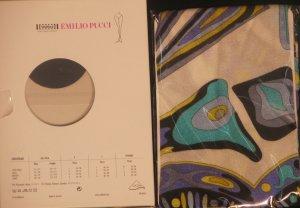 Wolford Pucci Capri Leggings  Congo Blue Medium 190-14 -$210