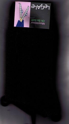 LeGale Micro Velour Sock - Black