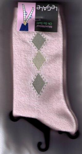 LeGale Micro Fiber Velour Sock - 3 Diamond-Pink