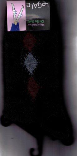 LeGale Micro Fiber Velour Sock - 3 Diamond-Black