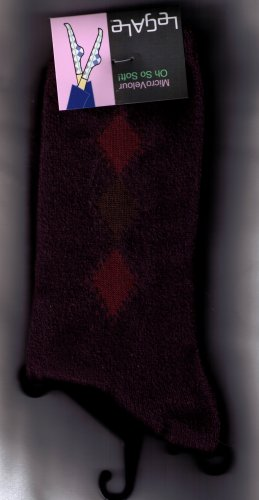 LeGale Micro Fiber Velour Sock - 3 Diamond-Purple