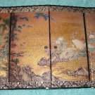 Beautiful Oriental 4 Panel Decorator Screen