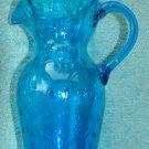 Fabulous Blue Bubble Glass Pitcher