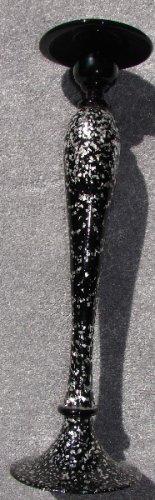 Fabulous Black Glass Candlestick