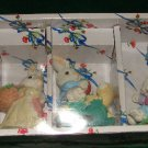 4 Easter Rabbit Figurines