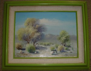 F. Pressey Landscape on Canvas