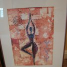 Abstract Nude Dancer Print by D Burton