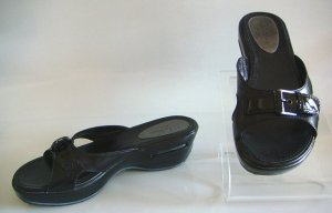 COLE HAAN AIR Blk Leather Slide Sandal Shoes~7.5 M~NEW!